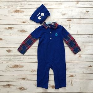 Children's Place Long Romper & Hat Outfit NWT